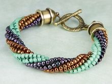 How to Do the Twisted Herringbone Stitch to make this bracelet