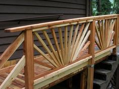 Wheelchair ramp over existing stairs.