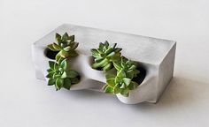 Reminds me of my Grandmother's rock garden at her old house. // Emerging Objects Planter Brick, Gardenista