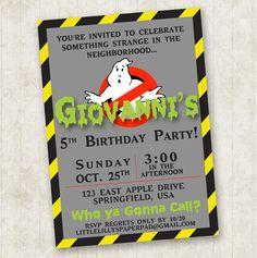Ghostbusters Birthday Invitation