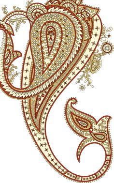 Paisley Art, Paisley Flower, Paisley Design, Paisley Pattern, Flower Art, Textile Prints, Textile Design, Textiles, Border Design