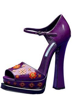 Prada – Women's Peep Toe, Zapatos Shoes, Pumps, Stilettos, Beautiful High Heels, Purple Shoes, Prada Shoes, Me Too Shoes, Fab Shoes