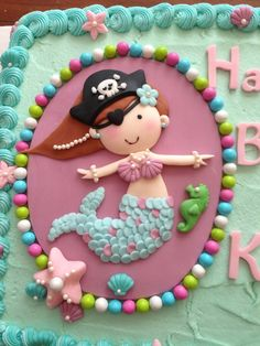 Our Decorated Cakes and Cupcakes: Mermaid Pirate Cake