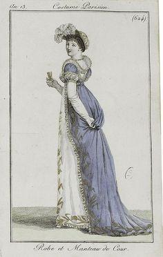 Le Costume Parisien, Journal des Dames et des Modes, Court dress, An 13 = 1804-1805