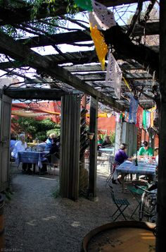 outdoor restaurants are the best.  Corkscrew Cafe ~ Carmel Valley, CA