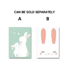 AFFLATUS Nordic Cute Baby Rabbit Canvas Painting Wall Art Posters And Prints Nursery Wall Pictures For Kids Room Decor No Frame-in Painting & Calligraphy from Home & Garden on Aliexpress.com | Alibaba Group
