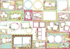 Frames from Tea and Cupcakes Clipart. Printable Frames, Printable Paper, Birthday Woman, 16th Birthday, Homemade Envelopes, Cupcake Clipart, Spanish Party, Japanese Party, Diva Party