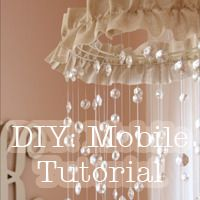 DIY Baby Mobiles - Ideas for Making a Homemade Baby Crib Mobile Diy Crystal Mobile, Baby Mädchen Mobile, Mobile Chandelier, Chandelier Ideas, Diy Crystals, Nursery Themes, Nursery Ideas, Nursery Inspiration, Everything Baby