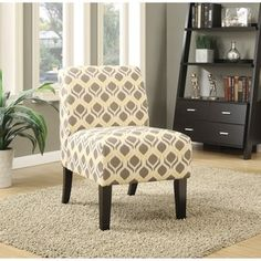 Acme 59440 Ollano ii rounded diamond pattern fabric accent chair with wood legs Chair Upholstery, Chair Fabric, Upholstered Dining Chairs, Acme Furniture, Living Room Furniture, Furniture Outlet, Online Furniture, Furniture Decor, Contemporary Style