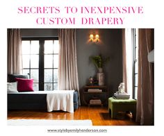 Here's my guide to the best ready-made inexpensive drapes or how to customize your own on a budget and still have them look unique and beautiful. I have a personal theory about design that if you don't get something unique (custom or vintage) then it should be inexpensive.  Of course i shop for a living... Read More …