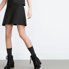 ZARA - COLLECTION SS16 - LACE-UP HIGH HEEL ANKLE BOOTS