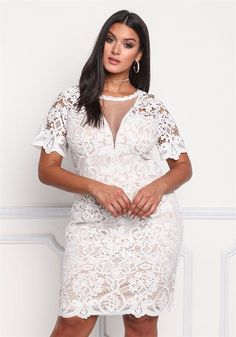 Plus Size Mesh Lace Embroidered Dress Plus Size Lace Dress, Plus Size Cocktail Dresses, Plus Size Party Dresses, Plus Size Outfits, Plus Size Brides, Plus Size Wedding, Plus Size Fashion For Women, Plus Size Womens Clothing, Size Clothing