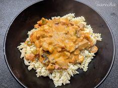 Cestoviny so smotanovou omáčkou - recept   Varecha.sk Risotto, Chicken, Ethnic Recipes, Food, Essen, Meals, Yemek, Eten, Cubs
