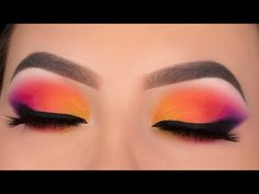 eye makeup using jaclyn hill Dark Makeup Looks, Glitter Makeup Looks, Red Lips Makeup Look, Glossy Makeup, Pretty Eye Makeup, Beautiful Eye Makeup, Burgundy Makeup, Yellow Makeup, Colorful Eye Makeup