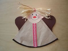 Christmas angel (with printable template) #kids #crafts #coffeefilter