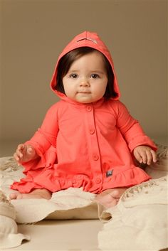 Kid Cutecure - Red Riding Hood Jacket/Poncho in Coral