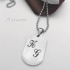 Αναλαμβάνουμε τη χάραξη που θέλεις!  Θα τα βρεις στο ASIMENIO.GR 2310 531382 Dog Tags, Dog Tag Necklace, Jewelry, Silver, Jewlery, Jewerly, Schmuck, Jewels, Jewelery