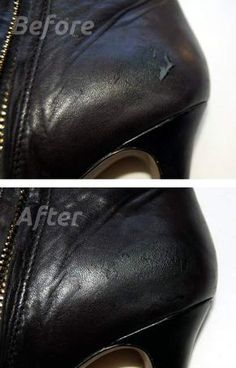 DIY shoe scuff repaired with leather tear kit DIY shoe scuff repaired with leather tear kit Leather Shoe Repair, Leather Kits, Repair Shoes, Shoe Makeover, Do It Yourself Inspiration, Shoe Crafts, Do It Yourself Fashion, Black Leather Shoes, Diy Fashion