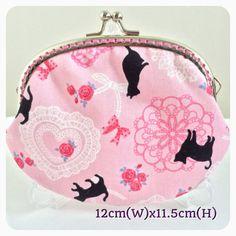 Medium Handmade Coin Purese - Pink Lace Ribbon Kitten on Etsy, $159.24 HKD