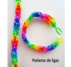 pulsera de ligas/ rubber band bracelet without loom