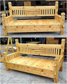 wooden pallet bench idea
