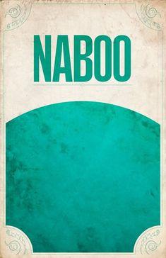 NABOO.Minimalist poster designs from the Star Wars Galaxy by Justin Van Genderen