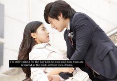 Only so I can ogle him. Side couple Jun Pyo and Jan Di! Korean Drama Movies, Korean Dramas, Korean Actors, Boys Before Flowers, Boys Over Flowers, Gu Hye Sun, Kdrama, Song Jae Rim, Kim So Eun