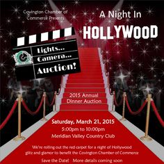 Lights.. Camera... Auction! Join us for our Hollywood themed 2015 Annual Dinner Auction!