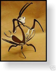 Praying mantis - metal art sculpture - garden decor