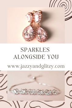 Sparkly feminine modern bridal jewelry wedding accessories