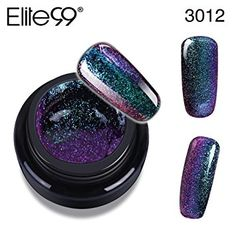 New Chameleon Colour Changing Nail Gel, Elite99 3D Glitter Starry Galaxy Holo LED UV Soak off Colorful Gel Polish Lacquer Nail Art DIY 5ml 3012