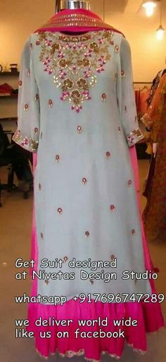 whatsapp All or pieces can be made to measure and customisation options such as colour, embroidery and fabric changes are also available punjabi salwar suits - suits - patiala salwar suit - partywear salwar suits - punjabi bridal suit - wedding Embroidery Suits Punjabi, Embroidery Suits Design, Embroidery Dress, Butterfly Embroidery, Embroidery Designs, Salwar Suits Party Wear, Party Wear Dresses, Occasion Dresses, Red Lehenga