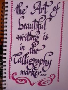 the art of beautiful writing... by rappy2766, via Flickr