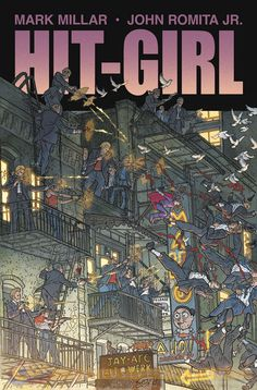 Thanks to Comic Book Resources, we have a first look at Geoff Darrow's action packed and bloody variant for Mark Millar (The Ultimates) and John Romita Jr.'s (Amazing Spider-Man) Hit-Girl Comic Book Pages, Comic Book Artists, Comic Book Covers, Comic Books Art, Hit Girl, Geof Darrow, Mark Millar, John Romita Jr, Learn Art