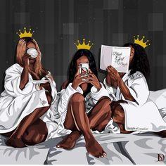 African american women, Melanin queens, art print – Fashion Ideas And Suggestions Art Black Love, Black Girl Art, Black Is Beautiful, Black Girl Magic, Art Girl, Black Girls Drawing, Black Art Painting, Black Artwork, Reine Art