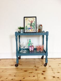 Trolley Table, Tea Trolley, Tea Cart, Vintage Drinks Trolley, Hostess Trolley, Restoring Old Furniture, Paint And Drink, Drinks Cabinet, Home Comforts