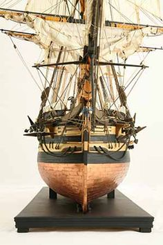 Close-up photos of ship model HMS Wellesley. HMS Wellesley was launched at Bombay in 1815 as a 74 gun ship. Old Sailing Ships, Close Up Photos, Hms Victory, Model Ships, Ship Of The Line, Tall Ships, Ocean City, Model Building, Water Crafts
