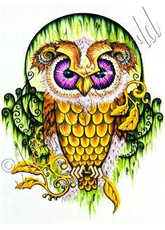 Sugar Skull Owl Sketch
