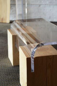 Reclaimed wood and acrylic. Autonomous Furniture #yyj