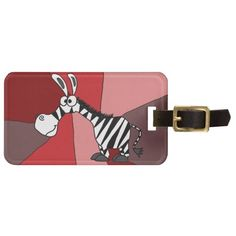 Funky Zebra Art Travel Bag Tags #zebras #animals #luggagetags #art And www.zazzle.com/inspirationrocks*