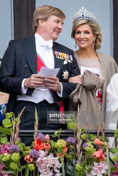 King Willem-Alexander and Queen Maxima of The Netherlands attend the official Gala dinner at the Royal Palace on May 9, 2017 in Oslo, Norway. King Harald and Queen Sonja of Norway are celebrating their 80th birthdays.