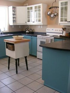The Complete Guide to Imperfect Homemaking: How to Paint your Cabinets TEAL! (or some other colour, I suppose.)