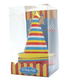 Look at this #zulilyfind! Stripe Party Hat - Set of Six by Party Partners #zulilyfinds