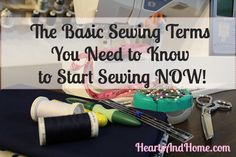 The Basic sewing terms you need to know to start sewing now!