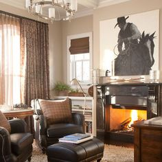 Western Living Room Design, Pictures, Remodel, Decor and Ideas
