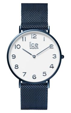 ff1cae11f682c Ice-Watch City Milanese Blue Shiny Medium IW012713. Trendy Ice Watch  horloges voor dames