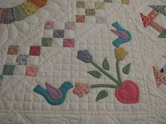Very appropriate quilting for a 30's repro quilt
