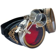 Steampunk GogGLes VicTORian Novelty Glasses cosplay Antique filigree... ($20) ❤ liked on Polyvore featuring accessories