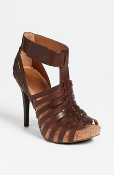 strappy leather sandals. i'm in love! #BCBG