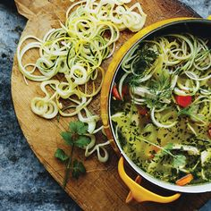 This wholesome soup recipe is a family favourite with a modern twist. Zucchini Noodle Recipes, Zucchini Noodles, Soup Recipes, Chicken Recipes, Clean Pots, Chicken Soup, Soups And Stews, Family Meals, Bears